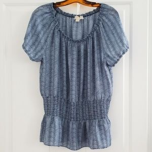Michael Kors short sleeve blouse